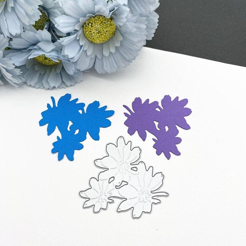 Купить набор цветочных лепестков для резки металла diy скрапбукинг