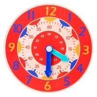 Juguetes de reloj de madera Montessori para niños, Hora Minuto, hora, relojes de colores de cognición, juguetes para niños, Ayuda de enseñanza de preescolar temprano