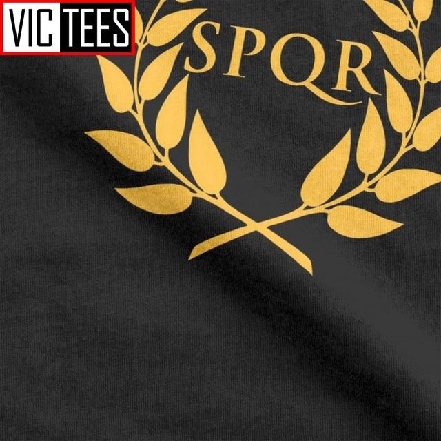 Men SPQR T-Shirt Camp Jupiter Rick Riordan Percy Jackson T Shirt Men Summer Style Tops Funny Cotton Tees 6