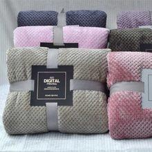 Couverture polaire en microfibre, linge de maison, grand couvre-lit épais molletonné pour le canapé, petit plaid rose pour enfants, 200x230cm