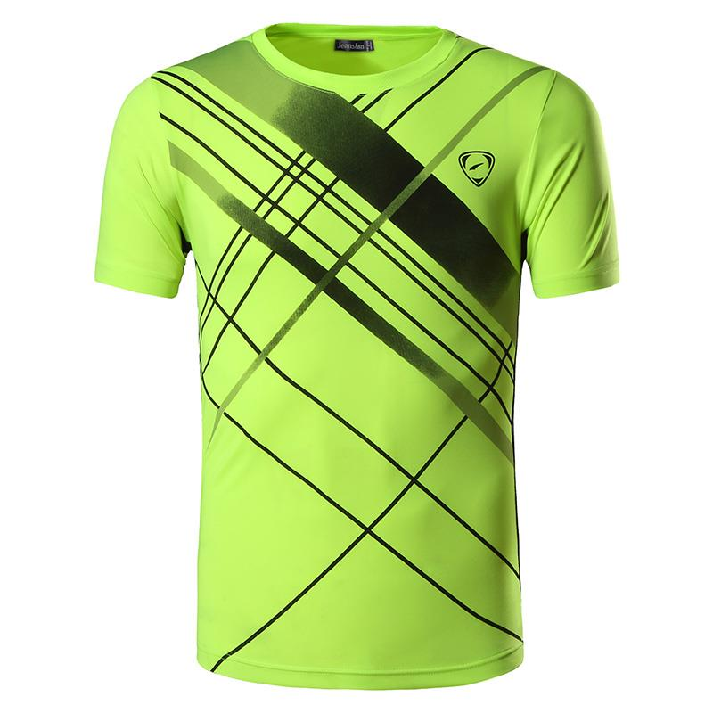 Jeansian Men 39 s Tshirt T Shirt Tee Shirt Sport Dry Fit Short Sleeve Running Fitness Workout LSL133 GreenYellow in T Shirts from Men 39 s Clothing