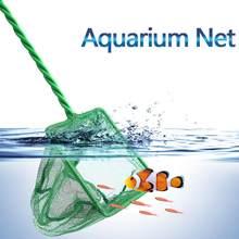 Kabaretki zielony przenośny długi uchwyt kwadratowy akwarium podbierak sieci rybackiej dla ryb pływające obiekty czyszczenie narzędzi