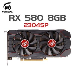 Carte vidéo RX 580 8GB 256Bit 2304SP GDDR5 cartes graphiques pour cartes VGA série AMD Radeon RX 580 RX580 8g DisplayPort HDMI