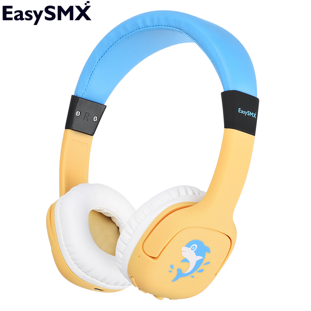 Easysmx P18w Kids Headphones With 85 93db Child Safe Volume Bluetooth Headphone Headset For Xiaomi Iphone Huawei Smartphone Bluetooth Earphones Headphones Aliexpress