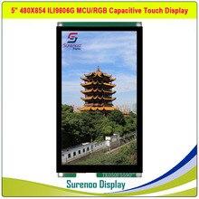 5.0 Inch 480*854 ILI9806G 16M Hd Capacitieve Resistive Touch Ips Tft Lcd Module Scherm Display Mcu rgb