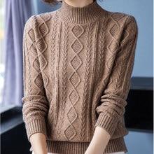 Ljsxls outono inverno feminino grosso quente suéter 2020 coreano solto moda gola alta malha blusas pulôver feminino de alta qualidade
