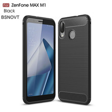 For ASUS Zenfone Max M1 ZB555KL Case Soft Silicone Carbon Fiber Case For ASUS Zenfone Max M1 ZB634KL Case ASUS Zenfone 6 ZS630KL аксессуар чехол red line для asus zenfone m1 max zb555kl unit black ут000014608