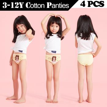 4 sztuk partia Cartoon majtki dla dziewczynek bawełniane miękkie dzieci bielizna śliczne piękne majtki wygodne dziewczyny majtki dziecięce kalesony tanie i dobre opinie wuruotim CN (pochodzenie) COTTON BRIEF-6104 Figi Pasuje prawda na wymiar weź swój normalny rozmiar Blue Purple Pink Yellow