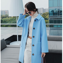 2019 Spring Autumn Wool Blazers Women suit Plus size Long sleeve jacket Casual t