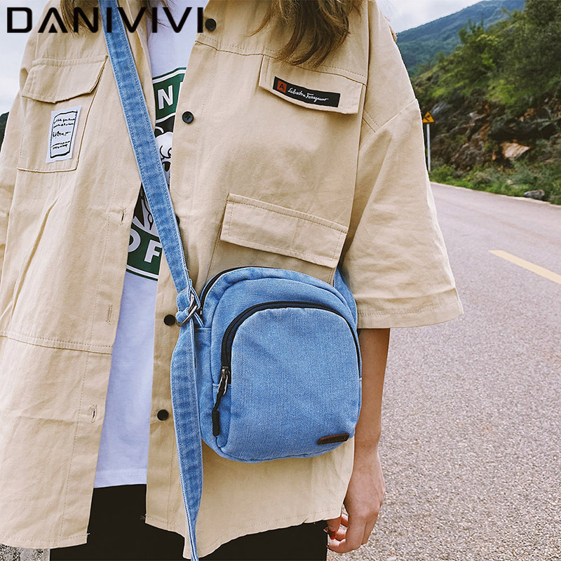 New Women Shulder Bag For Women 2020 Zipper Small Denim Female Shoulder Bag Phone Purse Girls Crossbody Bags Bolsos Mujer