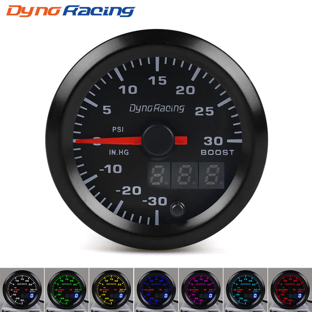 Dynoracing-2-52mm-Dual-Display-Turbo-Boost-gauge-PSI-7-colors-Led-Boost-meter-with-Stepper