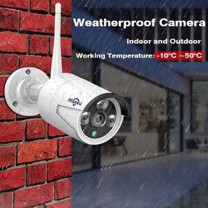 Image 4 - Hiseeu 8CH sistema di telecamere a circuito chiuso Wireless 6pcs 1080P wifi telecamera IP sistema di videosorveglianza per la sicurezza domestica esterna kit NVR