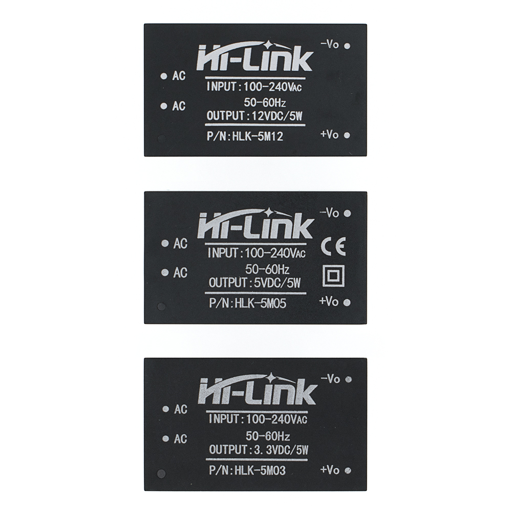 HLK-5M05 HLK-5M03 HLK-5M12 5W AC-DC 220V To 12V/5V/3.3V Buck Step Down Power Supply Module Converter Intelligent
