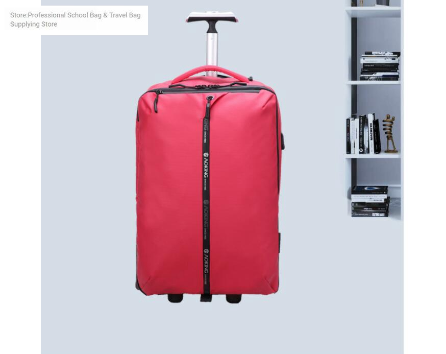 de viagem de bagagem de rolamento mochila