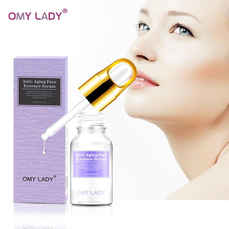 OMY SENHORA Argireline soro facial cuidados com a pele anti-envelhecimento anti-rugas essência ácido Hialurônico rosto cuidados hidratação profunda hidra