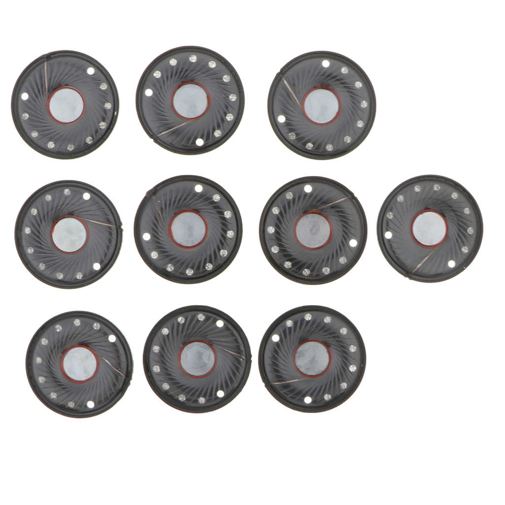 10 sztuk 8 Ω słuchawki jednostki napędowe DIY słuchawki głośniki do 40mm słuchawki