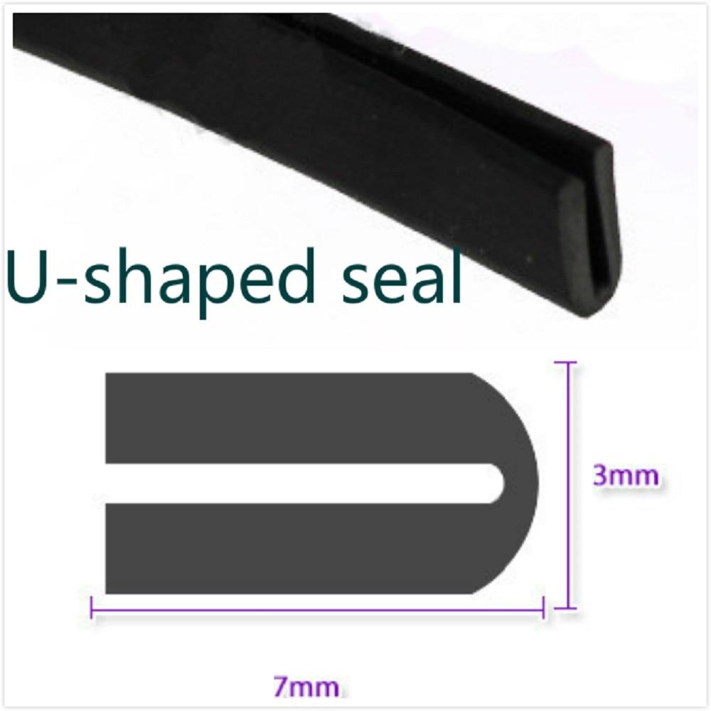 2M 7mm X 3mm U Channel Black Edge Trim Rubber Car Truck Auto Camper Trailer RV Seal