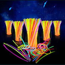 50/100PCS Party Fluorescence Light Colorful Glow Sticks Bracelets Necklaces Neon For Wedding Festive Vocal concert Home Supplies