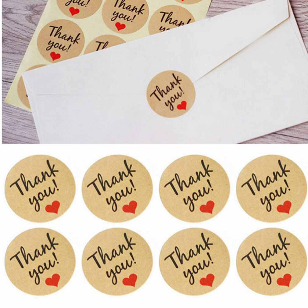 12PCS/Sheet Adhesive Kraft Paper Stickers for Diary Scrapbook Book Hand Made Gift Child Stationery Stickers