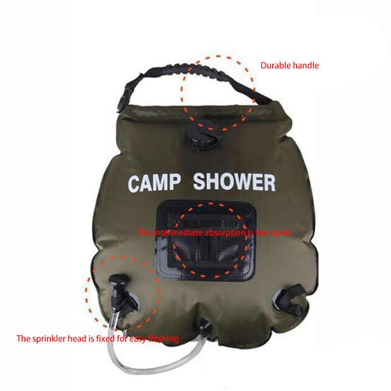 40L Faltbarer Wassersack PVC Dusche Tasche Camping Wandern Solarenergie beh //Neu