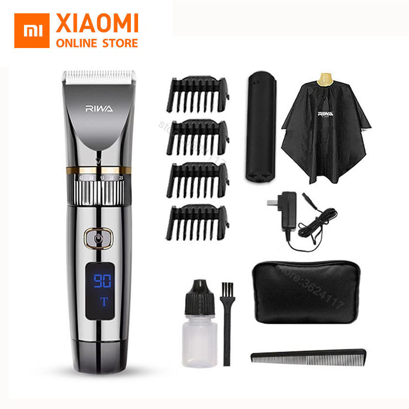 New Xiaomi Riwa Electric Hair Clipper RE-6501T Cordless Barber Professional Full Set For Man Barber Hair Trimmer Led Display