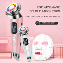 EMS Facial Massager LED light therapy Sonic Vibration Wrinkle Removal Skin Tightening Hot Cool Treatment Skin Care Beauty Device