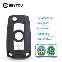 KEYYOU – clé télécommande pour BMW E38, E39, E46, X3, X5, Z3, Z4, série 1/3/5/7, 315/433MHz, transpondeur ID44, système EWS modifié