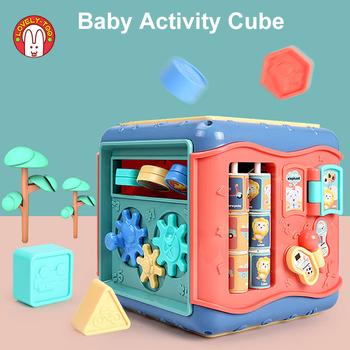 Zabawki dla niemowląt aktywność zagraj w kostkę sześciostronne pudełko kształt Montessori dopasuj niemowlę rozwój zabawki edukacyjne dla dzieci 13 24 miesięcy tanie i dobre opinie Lovely Too Baby Cube Urodzenia ~ 24 Miesięcy 2-4 lat Sport Baby Six-Sided Box Montessori Toy