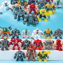 Avengers Building Block Figures Thanos Venom Hulk Batman Spiderman Iron Man endgame Compatible Duploe bricks Toys For Children