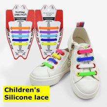 10 шт/лот новинка Детские эластичные силиконовые шнурки без