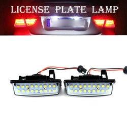 2 sztuk wolne od błędów 18SMD LED oświetlenie tablicy rejestracyjnej światła samochodowe dla nissan teana J31 J32 Maxima Cefiro Altima Rogue Sentra
