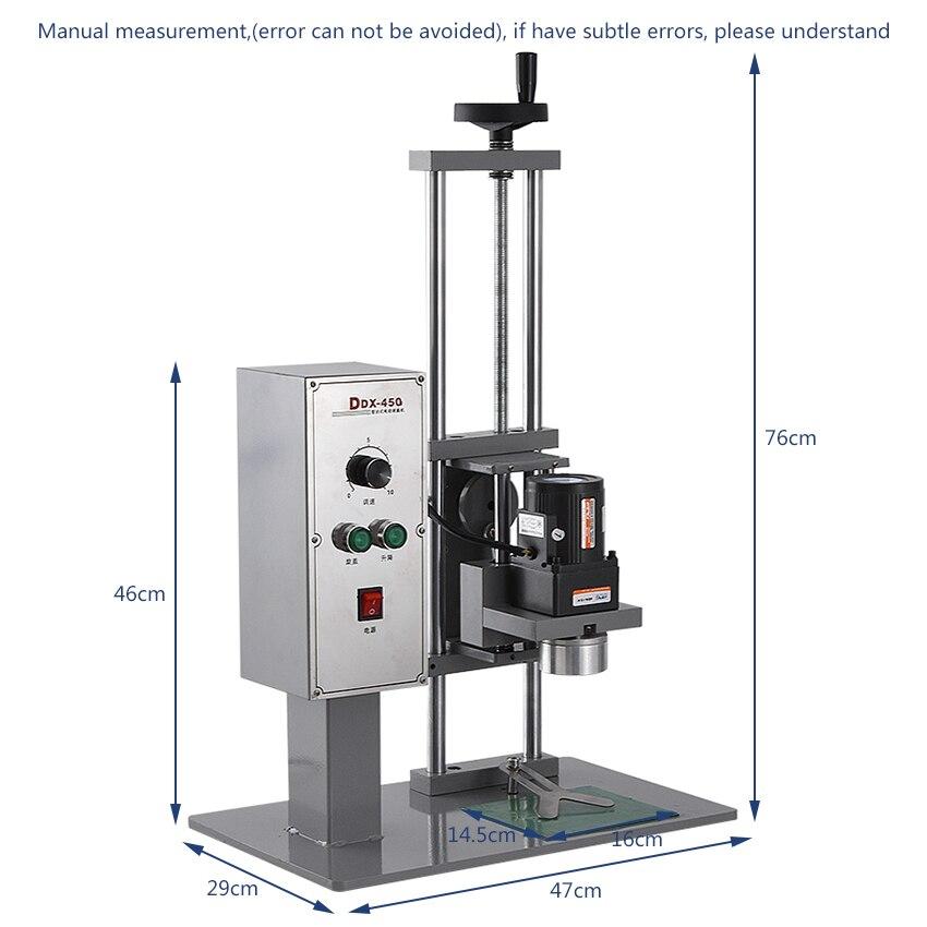 Máquina tampando automática 110 v/220 v 70kw 10 50mm da garrafa do desktop de alta qualidade da máquina ddx450 do parafuso da multi função - 4