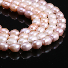 Natural Cultured Freshwater Pearl Beads 9-10mm Loose DIY Jewelry Baroque for Making Necklace Strand 14 Inches