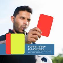 ПВХ футбольный матч рефери красный желтый карты футбольный матч тренировочный инструмент 8x11 см