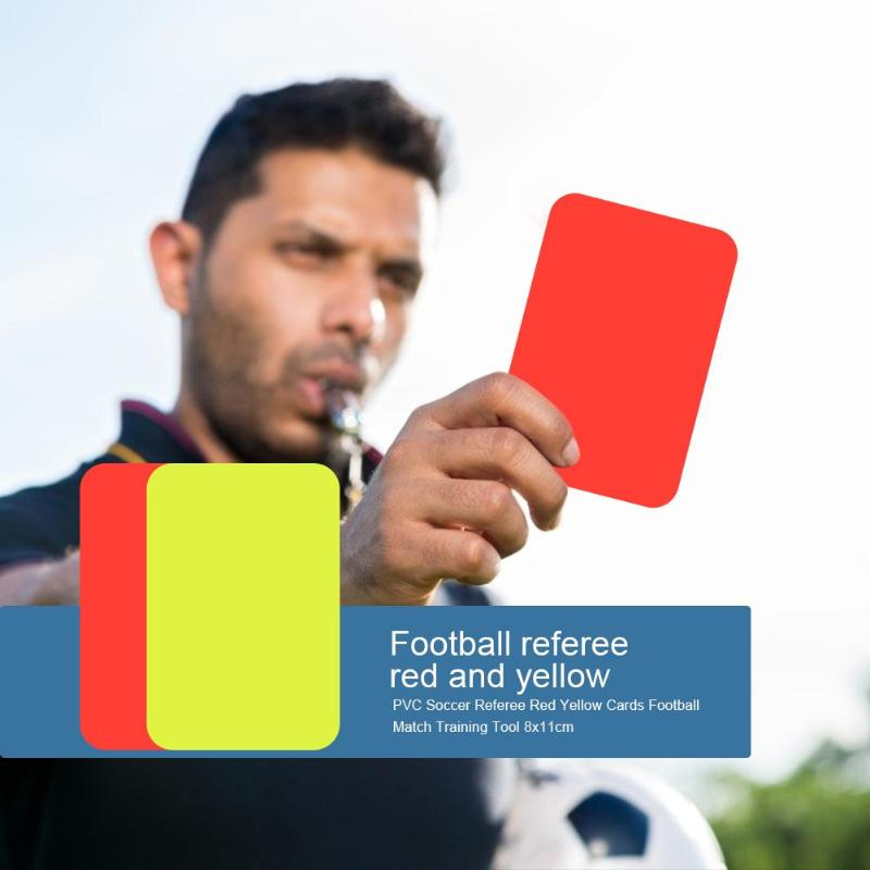 PVC Soccer Match Referee Red Yellow Cards Football Match Training Tool 8x11cm