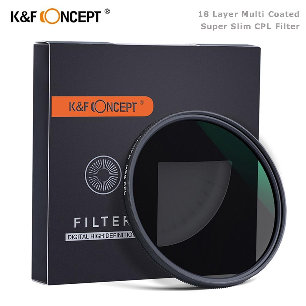 HD 55mm Super Slim 18 Layer Multi Coated 37-82mm Circular Polarizers Filter