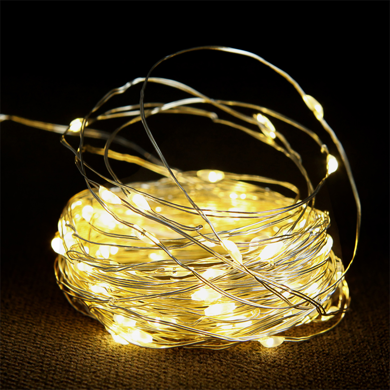 10M Waterproof AC 110V/220V 100 LED Holiday LED String Lights For Christmas Wedding Party Colorful Decoration Lights Led Lamp