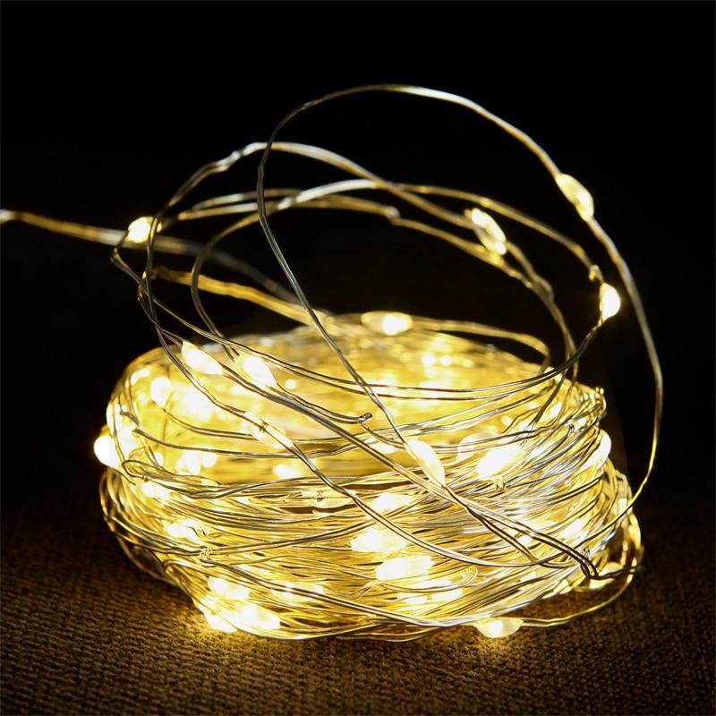10M Waterproof AC 110V/220V 100 LED Holiday LED String Lights For Christmas Wedding Party Colorful Decoration Lights Led Lamp