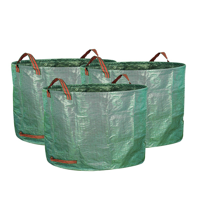 3 Pack 16 Gallons Garden Bag   Reuseable Heavy Duty Gardening Bags  Lawn Pool Garden Leaf Waste Bag|Bags & Baskets| |  - title=