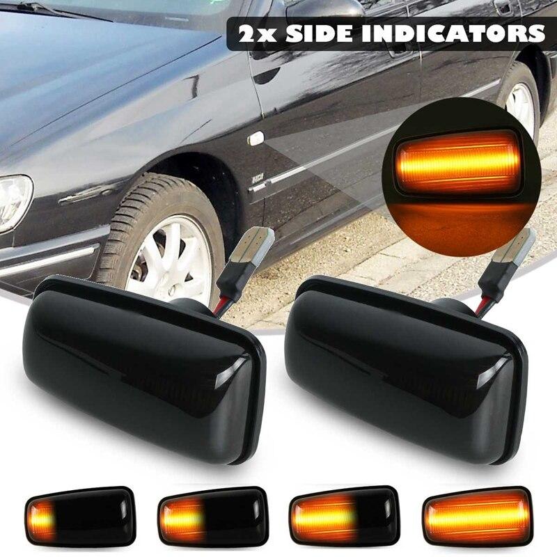 1x Turn Signal Lamp Side Marker Light Fit For Peugeot 106 206 307 406 407 607