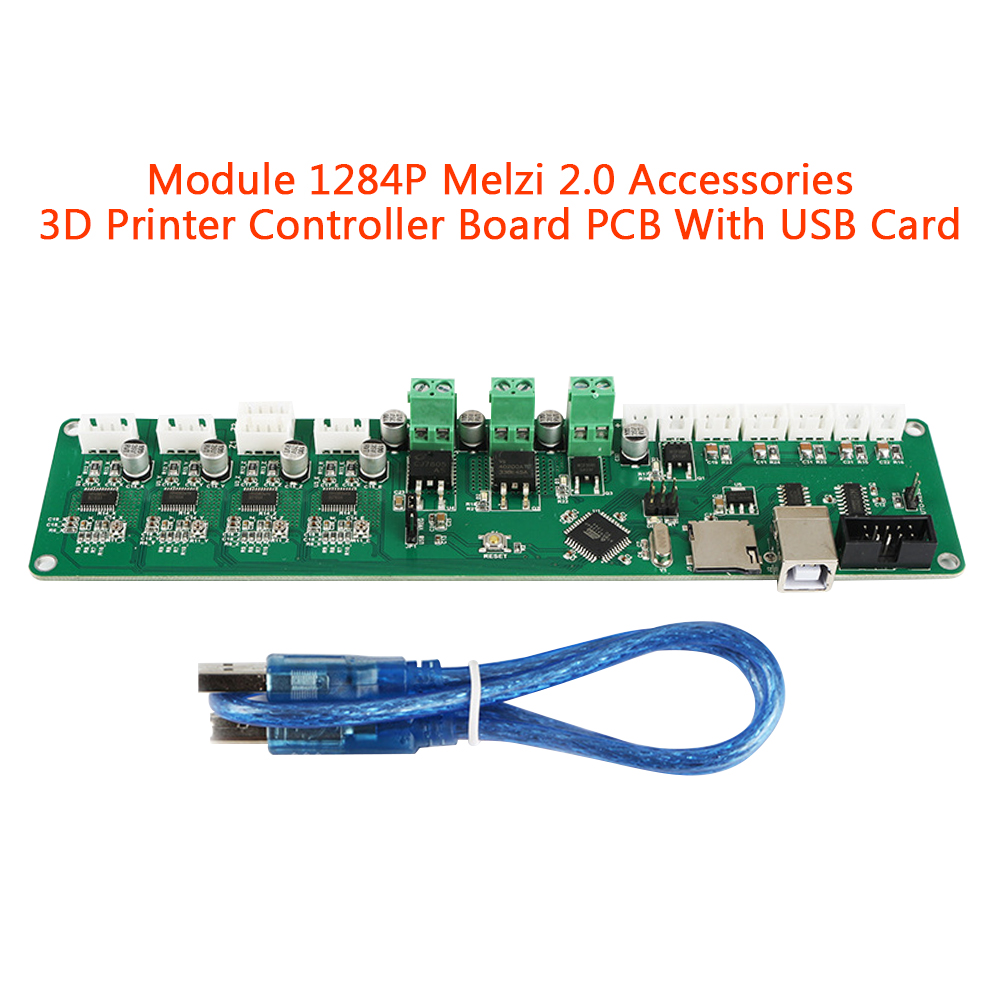 Melzi 2.0 3D Printer Controller Board Card Accessories Module Adapter Mainboard With USB DIY Motherboard Replacement Stable PCB