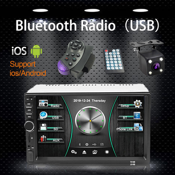 Radio 2 Din Reversing Display 7 Inch Car Radio Touch Screen Stereo Multimedia Player Game Android/IOS Bluetooth FM USB AUX Input image