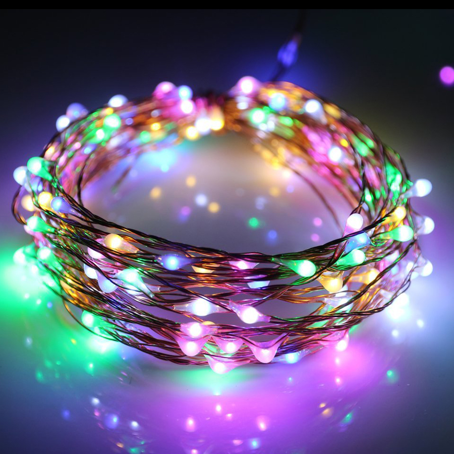 1M 2M 3M 5M LED String Light Copper Wire Fairy Light Garland Christmas Tree Wedding Party Home Decor Battery Multicolor Lighting
