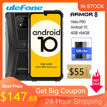 Ulefone Armor 8 Rugged Mobile Phone Android 10 4GB+64GB Mobile Phone Octa-core 2.4G/5G WiFi 6.1 inches Waterproof Smartphone