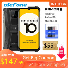 Ulefone Armor 8 Robuuste Mobiele Telefoon Android 10 4Gb + 64Gb Mobiele Telefoon Octa-Core 2.4G/5G Wifi 6.1 Inch Waterdichte Smartphone