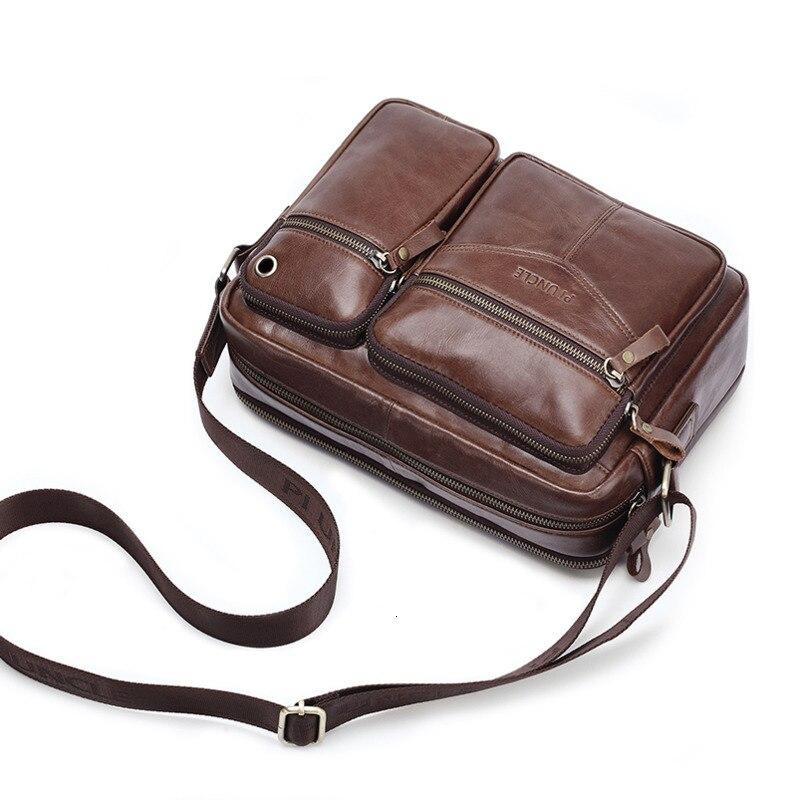 Männer Aus Echtem Leder Messenger Taschen Für 10,5