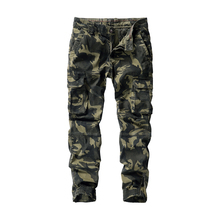 Camouflage Cargo Pants Men Multi Pocket Cotton Military Camo