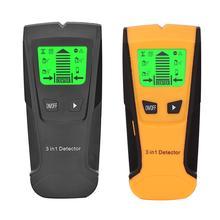 3 в 1 металлоискатель найти металл, дерево, штифты AC напряжение живого провода обнаружения стены сканер электрическая коробка искателя стены детектор