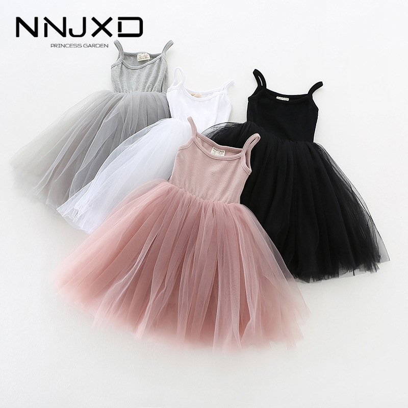 A-line Kids Dresses For Girls Clothing Solid Sling Teenager Casual Children Girl Dress Holiday Vestido Infantil 6 7 8 Years 1