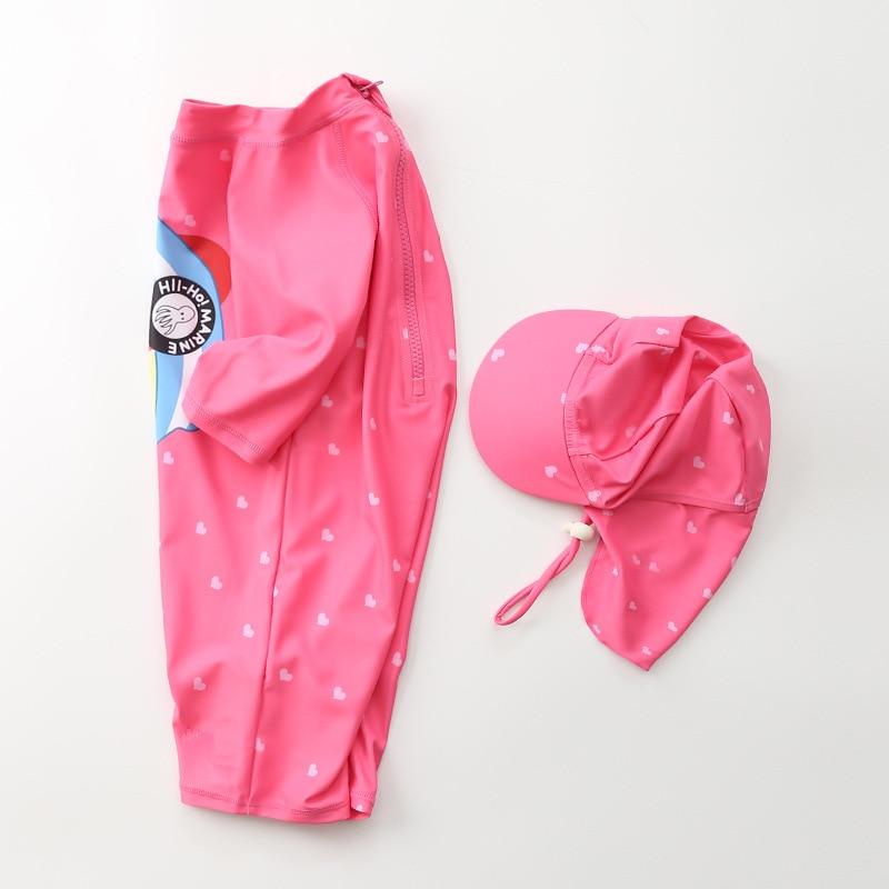 KID'S Swimwear Girls Small CHILDREN'S Princess Siamese Swimsuit Korean-style Cute Baby GIRL'S Infants Sun-resistant Swimwear